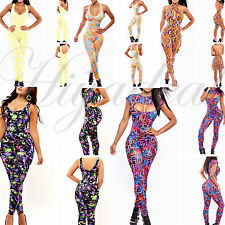 Sexy Womens Zipper Sleeveless Stretch Bodycon Long Rompers Jumpsuits Clubwear