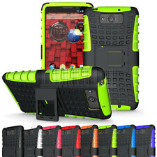 Heavy Duty Shockproof Rugged Armor Case Hybrid Impact Hard Cover With Kickstand