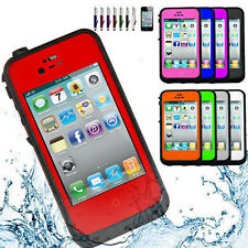 2014 Waterproof Shockproof Dirt Snow Proof Durable Case Cover For iPhone 4 4S
