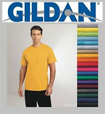 100 Gildan T-SHIRTS BLANK BULK LOT Colors or 120 White Plain S-XL Wholesale 50