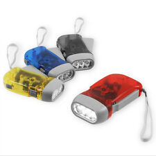 1 Pack Hand Crank All-Purpose LED Flashlight w' Squeeze Powered Recharge