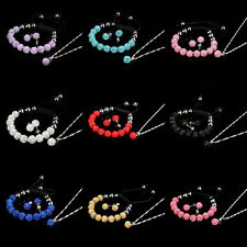 10MM Crystal Ball Shamballa Bracelet Earrings Set Necklace Jewelry New Fine