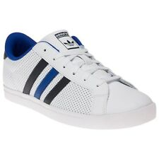 New Boys adidas White Greenstar Leather Trainers Football Style Lace Up