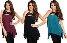 Fashion Women Summer Loose Casual Slim Sleeveless Vest Shirt Tops Blouse