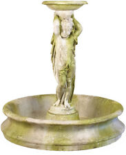 Outdoor Cherub Garden Water Fountain with Basin by Orlandi Statuary  FS8041