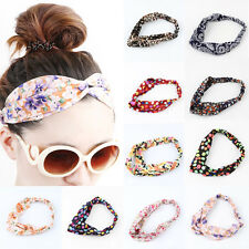 Good Women Colorful Elastic Turban Head Wrap Headband Twisted Knotted Hair Band