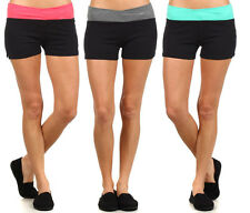 Womens Stretch Shorts Cotton Sexy Biker Exercise Casual Yoga Workout Size S-L