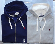 NWT NEW Polo Ralph Lauren Full Zip Sweatshirt Hoodie Gray or Navy S M L XL XXL