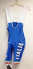 Italia Cycling Bib Shorts in Royal Blue made in Italy by Santini