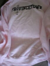 RESORT WEAR WOMENS PROVINCETOWN  SWEATSHIRT CREW PINK LARGE