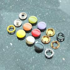 """Open Ring No Sew Snaps Fasteners stud 3/8"""" 9.5mm attaching 20 50 100 Choice"""