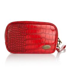 Samantha Brown Croco-Embossed Integrated coolant Cosmetic Clutch Bag