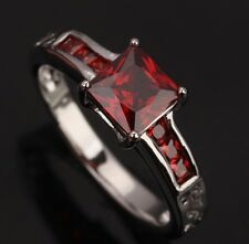 Fashion AWESOME Jewelry Garnet Gemstones Silver Rings US#Size5 6 7 8 9 T0200