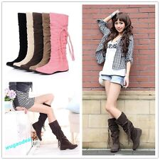 Fashion Lady Flat Over The Knee High Long Riding Winter Boots 6 Colors 10 Sizes