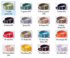 20MM Nylon Watch band watch strap 18 Pure color 304 Stainless steel buckle 1pc