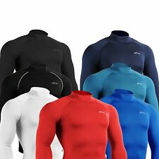 EMFRAA Compression skin tight base layer top gear mock turtle neck shirt S~ 2XL
