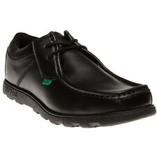 New Mens Kickers Black Fragma Lace Leather Shoes Up