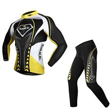 2015 New Sport Cycling Bicycle Bike Long Sleeves Jersey+4D Padded Pants S-3XL