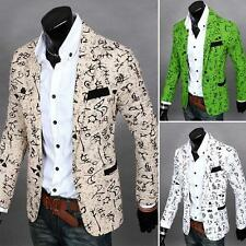 New Stylish Mens Casual Slim Fit One Button Suit Blazer Coat Jacket Outwear Tops