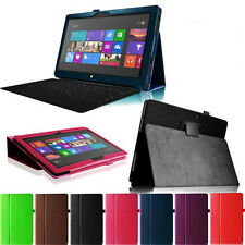 """Stand Fold PU Leather Case Cover Holder For Microsoft Surface RT 1 2 10.6"""" Win8"""