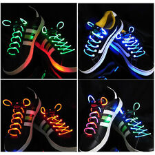 LED Flash Light Glow Shoelaces Shoe Lace DISCO PARTY 6 colours New Sell DS