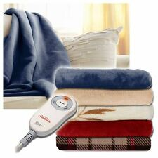 Sunbeam Microplush Electric Heated Throw Blanket - Assorted Colors / Patterns