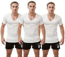 Diesel Dave 3 Pack Men's T-shirt Deep V-neck V Neck Shirt Vest