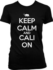 Keep Calm and Cali On California Republic Pride Life Swag Weed Juniors T-shirt
