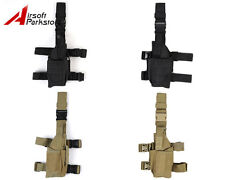 Airsoft Military Tactical Pistol Drop Leg Thigh Holster Pouch Right or Left Hand