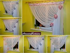 New Amazing Net Curtains Ready Made Voile Perfect for Small Medium Window
