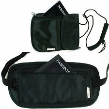 Alpine Swiss Waist Belt Neck Pouch Undercover Security Travel Bag Stash Wallet