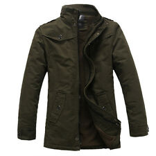 2014 NEW COMING Men's Winter Warm Thicken Stand Collar Military Coat Jackets Top