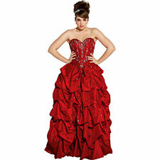 Satin Pageant Ball Gown Prom Dress Holiday Homecoming Junior & Plus Size