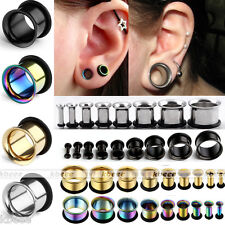 Stainless Steel Single Flared Horn Hollow Ear Flesh Tunnel Plug O-ring Stretcher