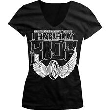 Some People Collect T-shirts I Actually Ride Motorcycle Juniors V-neck T-shirt