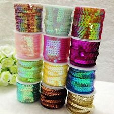 5/20yards 6mm Wide Many Color Sequined Lace Clothing Bags Accessories ZXH0049