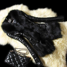 Warm Womens Faux Fur Long Sleeve Jacket Coat Sheepskin Leather Overcoat 8-14 L50