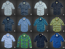NWT Hollister by Abercrombie&Fitch Denim/Plaid/Flannel Shirt Authentic S/M/L/XL