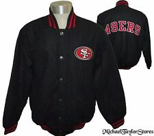 San Francisco 49ers Men's Embroidered Wool Jacket with Snaps