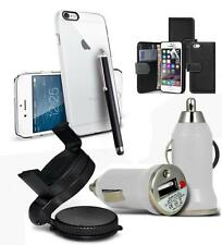 ACCESSORY BUNDLE KIT FOR APPLE IPHONE 6 6S PLUS + CASE CAR HOLDER CHARGE
