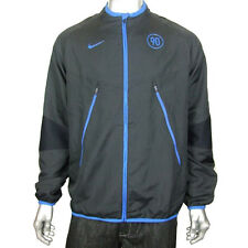 Mens Nike T90 Woven Football Running Training Jacket Sports Black Full Zip Coat