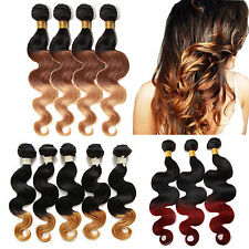 "[US]Hot 50g Ombre 1b/Burg#,1b/27# ,1b33/27# BRAZILIAN BODY WAVE 12""22""HUMAN HAIR"