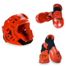 Macho Warrior Red Sparring Gear Set NEW!  Any Size