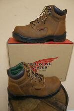 MENS RED WING 6 INCH LACE UP SAFETY TOE WORK BOOT 2235