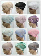 New Style Lace Bandage Muslim Inner Hijab Caps Islamic Underscarf Hats