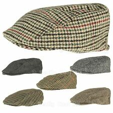 Country Style Tweed Flat Cap, Brown, Green, Charcoal, Green/Red