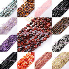 "4-6MM&5-8MM FREEFORM SHAPE STONE LOOSE GEMSTONE BEADS STRAND 15"" PICK MATERIAL"