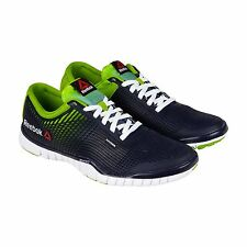 Reebok Mens Reebok Zquick TR Blue Green Synthetic Lace Up Running Shoes