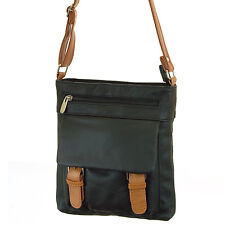 Womens Leather Messenger Cross Body Bag Organizer Purse Shoulder Bag Handbag New