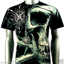LIMITED Rock Eagle T-Shirt M L XL XXL 3XL Compass Skull Biker Tattoo Punk E2 D1